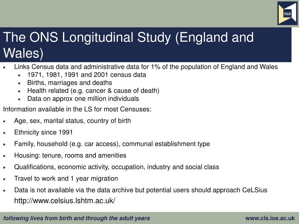 The ONS Longitudinal Study (England and Wales)