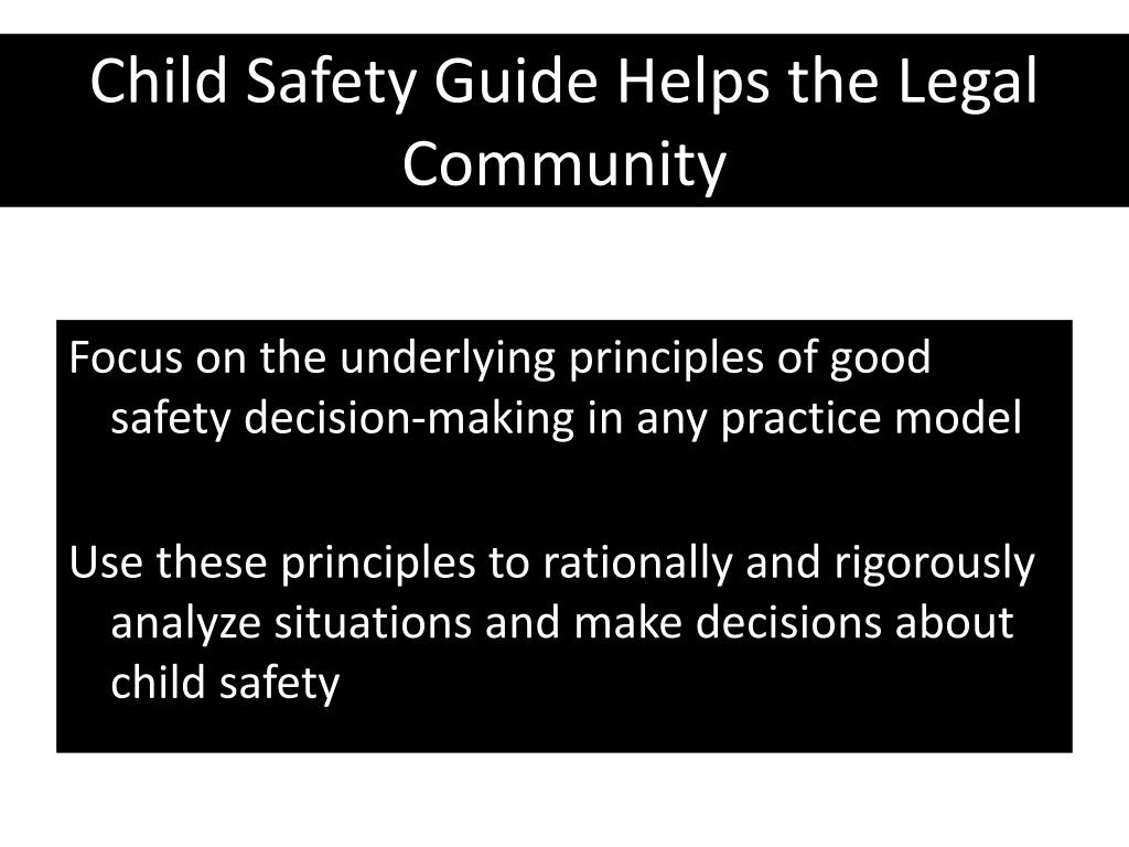 Child Safety Guide Helps the Legal Community