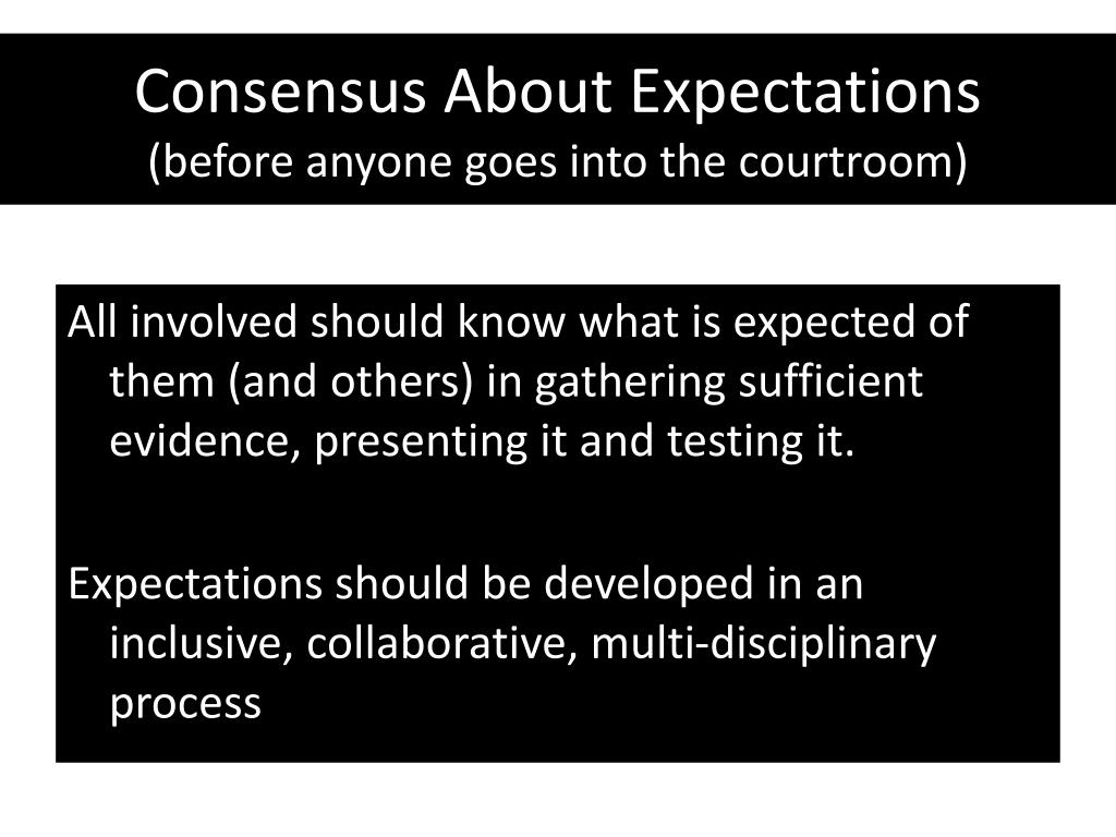 Consensus About Expectations