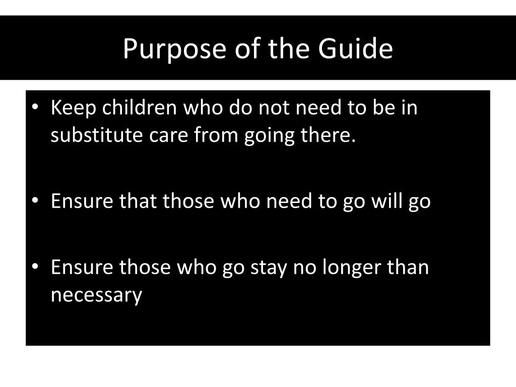 Purpose of the Guide