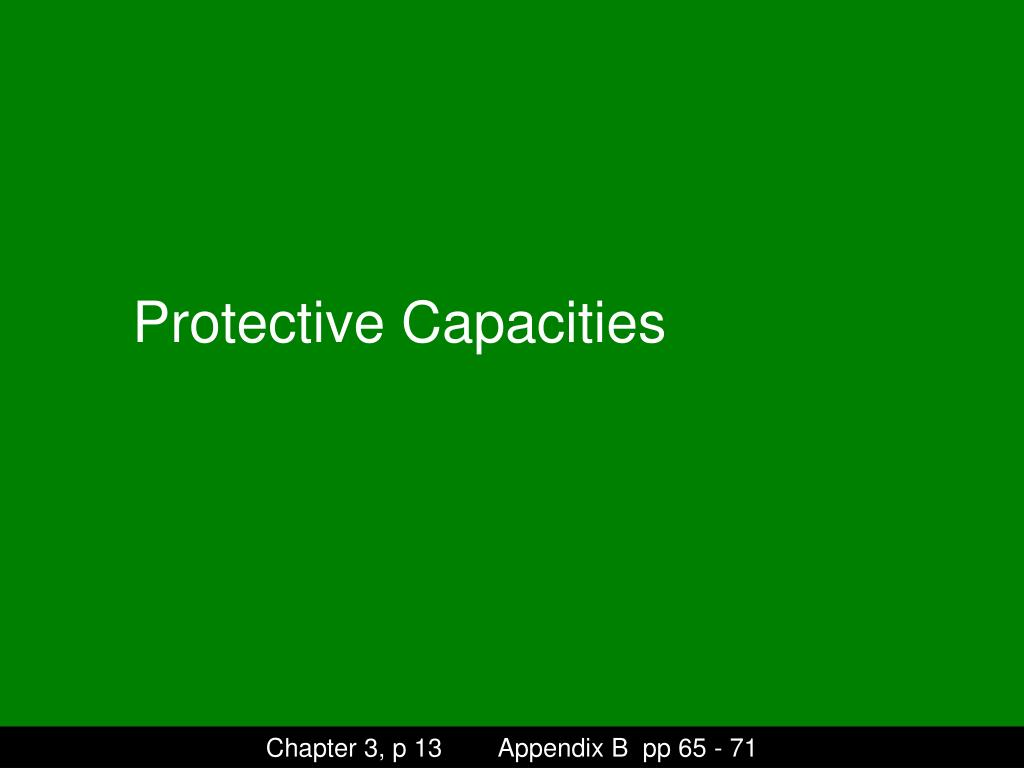 Protective Capacities