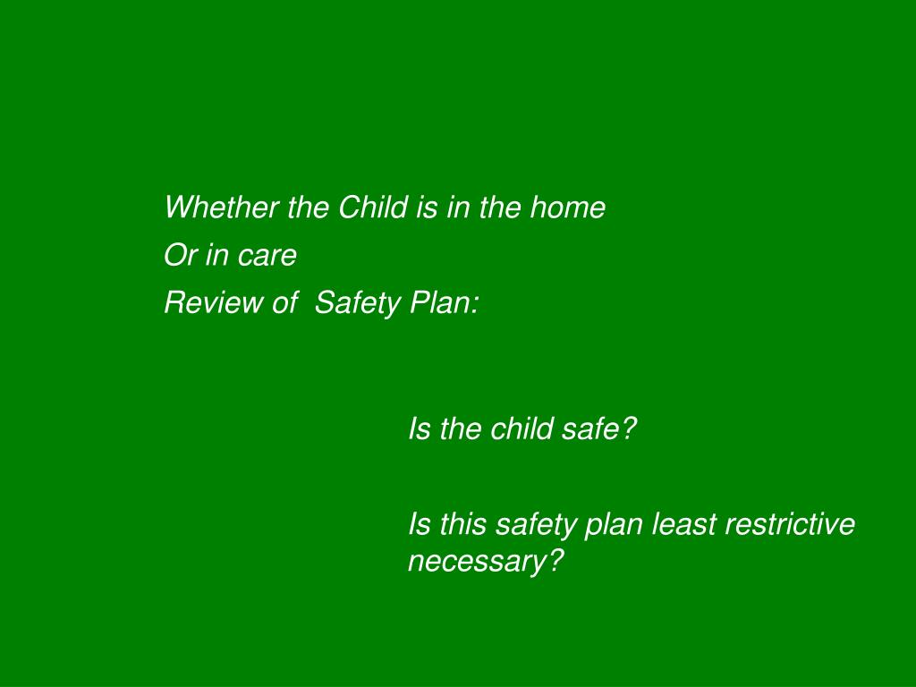 Whether the Child is in the home