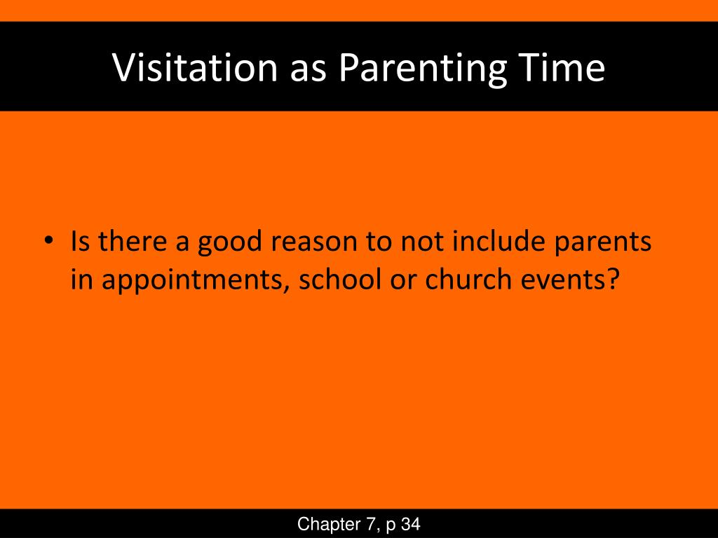 Visitation as Parenting Time