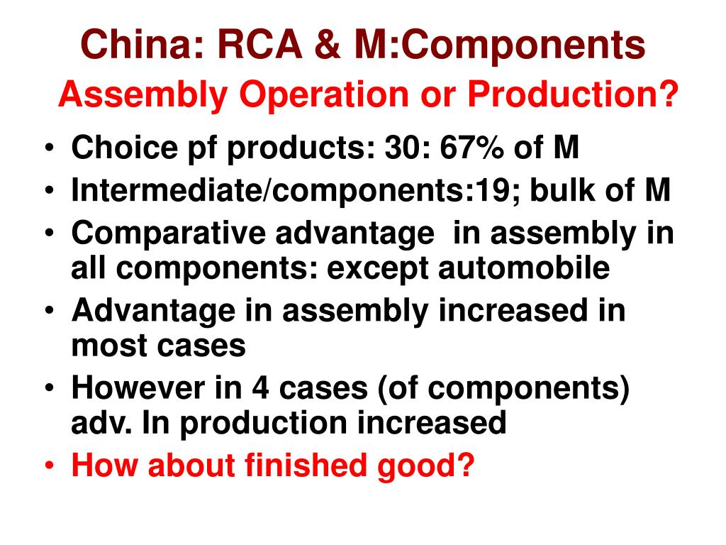 China: RCA & M:Components
