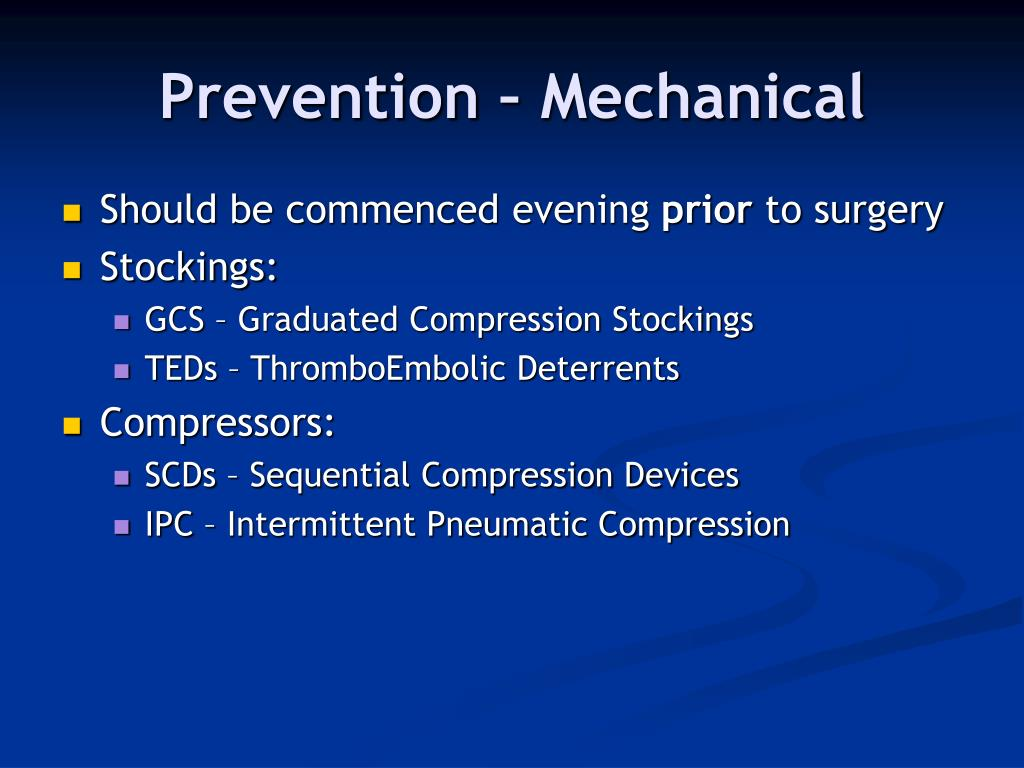 Prevention – Mechanical