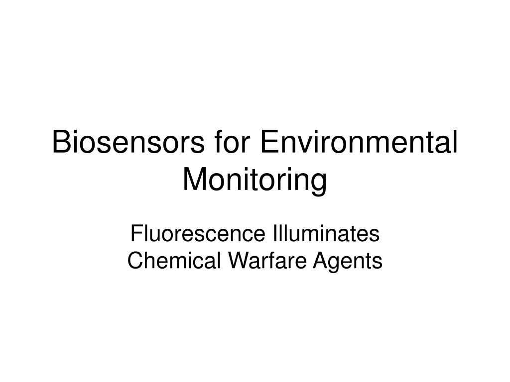 Biosensors for Environmental Monitoring
