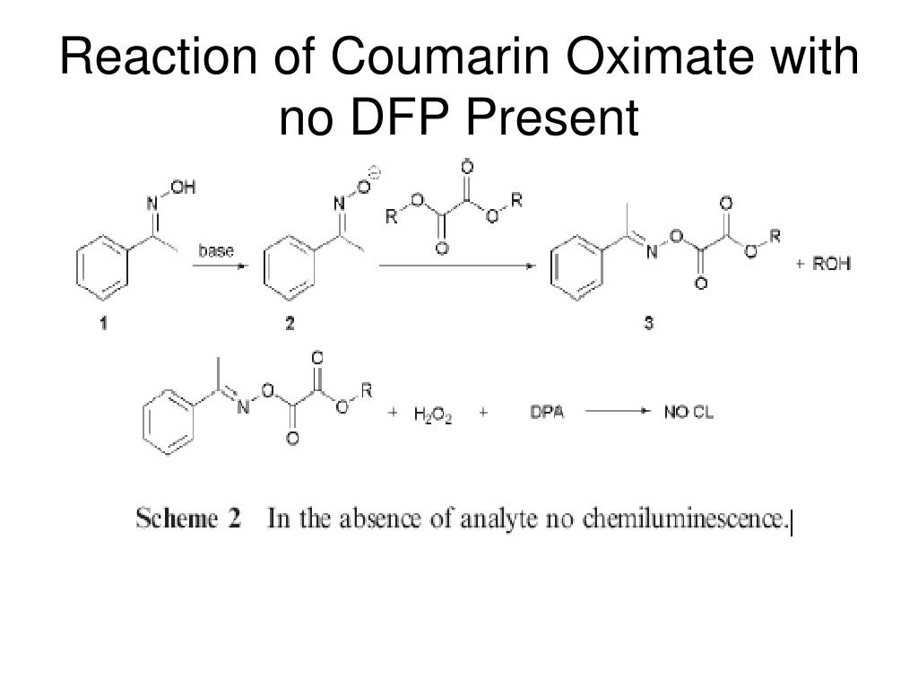 Reaction of Coumarin Oximate with no DFP Present