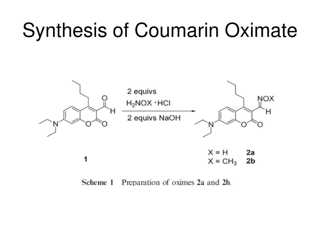 Synthesis of Coumarin Oximate