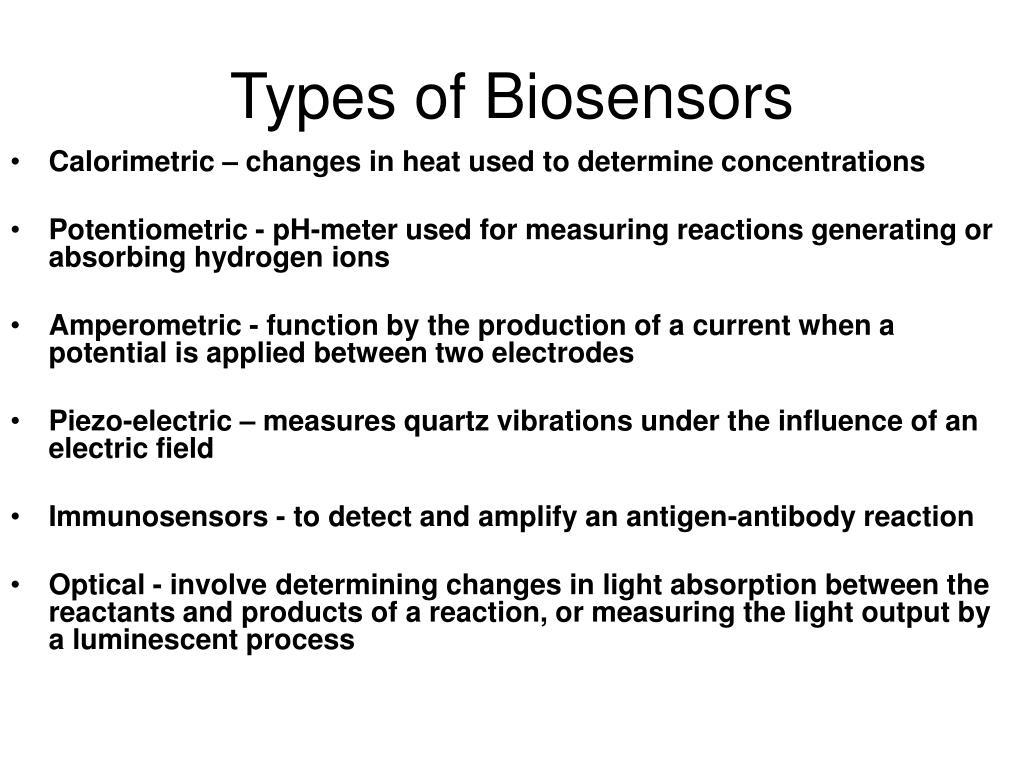 Types of Biosensors