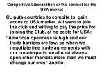 competitive liberaliztion or the contest for the usa market