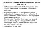 competitive liberaliztion or the contest for the usa market19