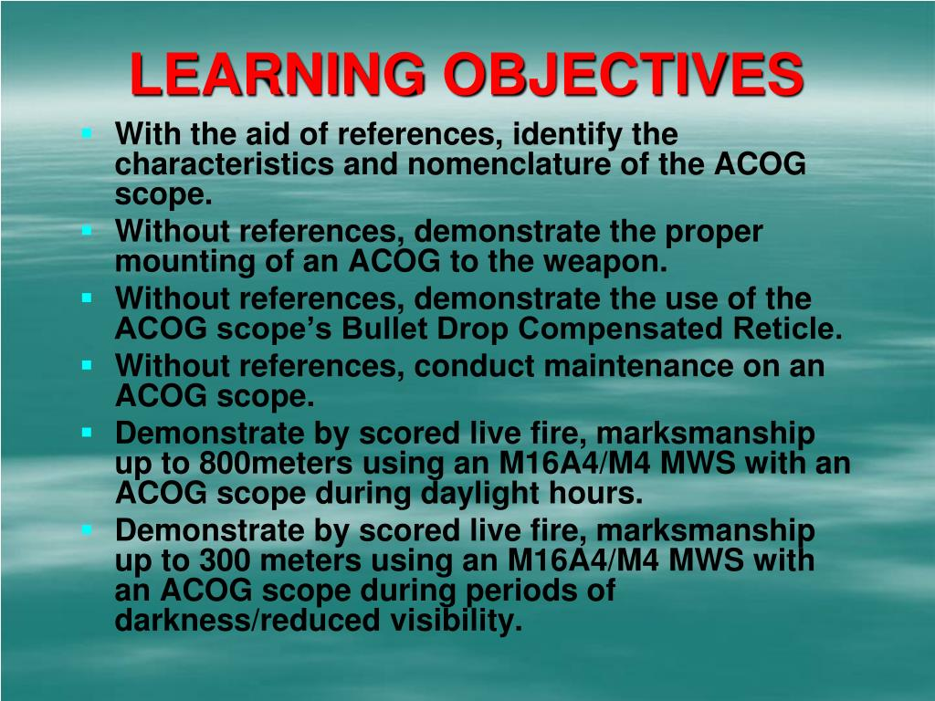 learning objectives l.
