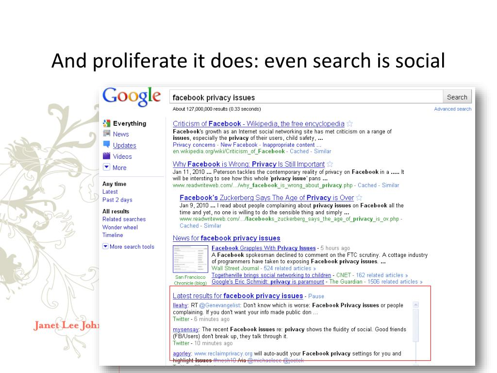 And proliferate it does: even search is social