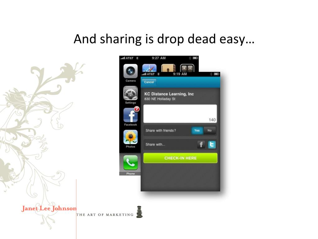 And sharing is drop dead easy…