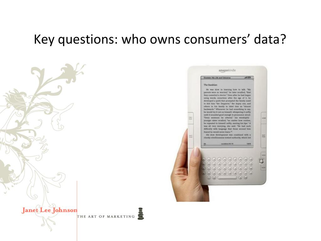 Key questions: who owns consumers' data?