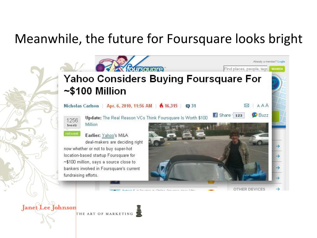 Meanwhile, the future for Foursquare looks bright