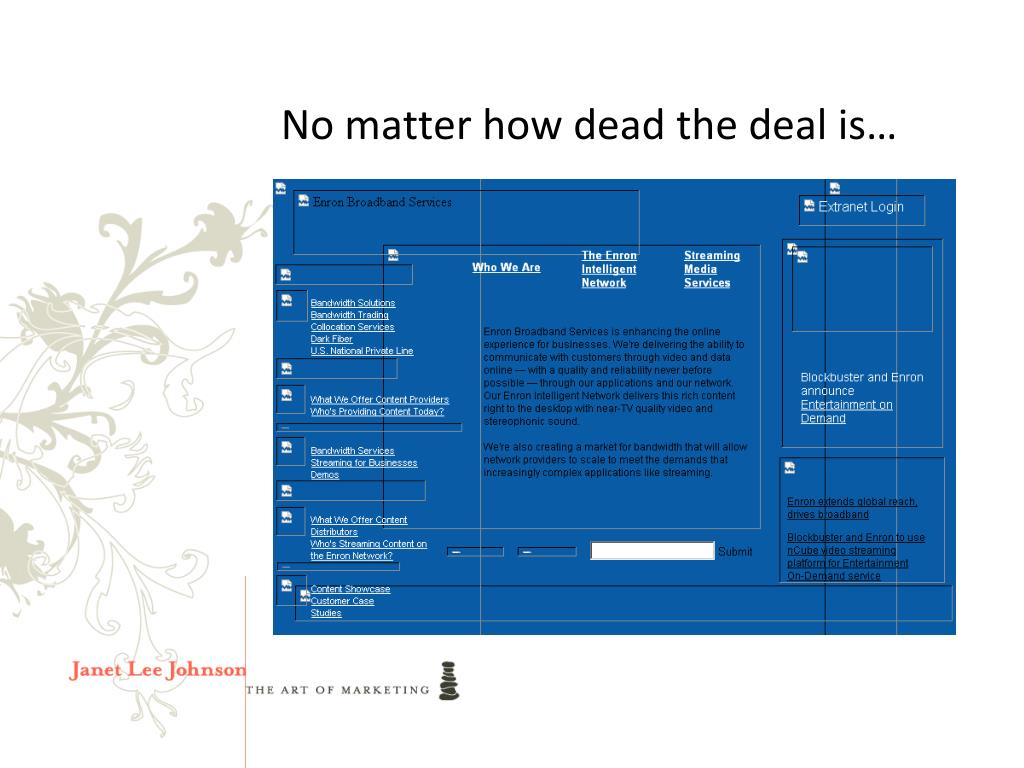 No matter how dead the deal is…