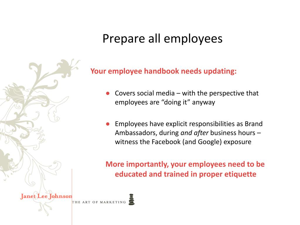 Prepare all employees