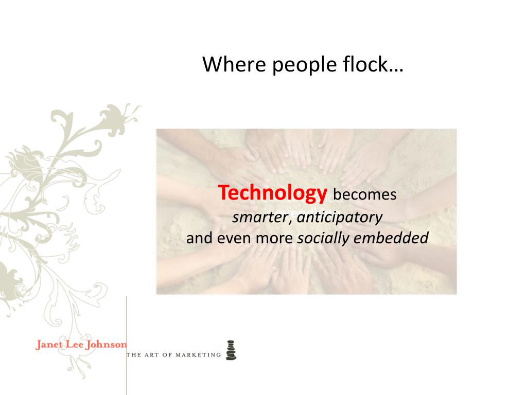 Where people flock…