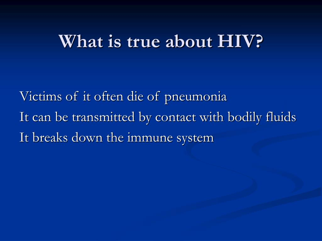 What is true about HIV?