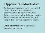 opposite of individualism
