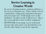 service learning in creative world