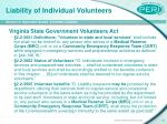 liability of individual volunteers12