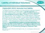 liability of individual volunteers14