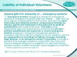 liability of individual volunteers15