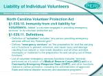 liability of individual volunteers16