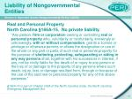 liability of nongovernmental entities21