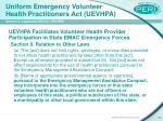 uniform emergency volunteer health practitioners act uevhpa39