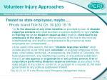 volunteer injury approaches10