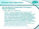 volunteer injury approaches9