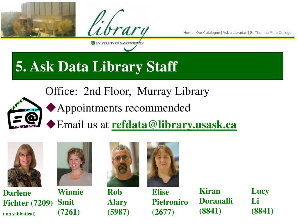 5. Ask Data Library Staff