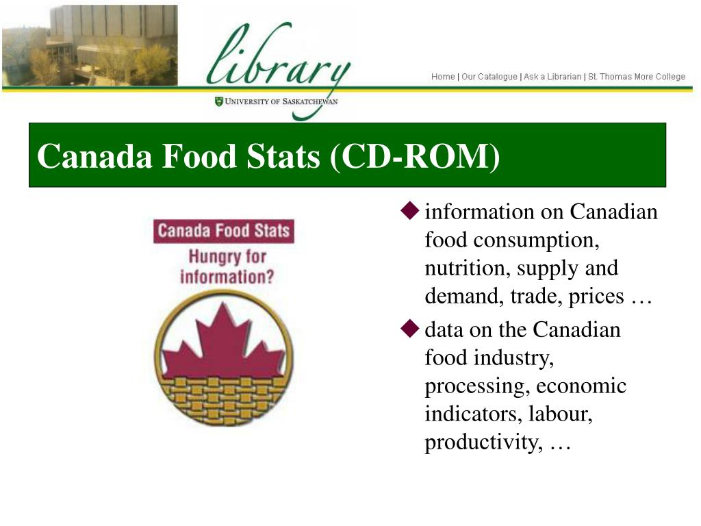Canada Food Stats (CD-ROM)