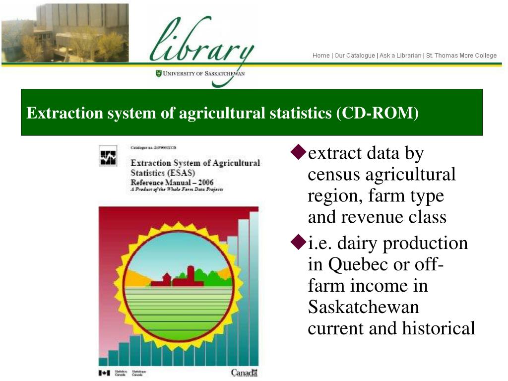 Extraction system of agricultural statistics (CD-ROM)