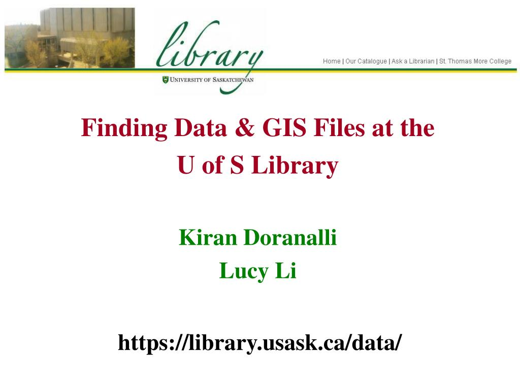 Finding Data & GIS Files at the
