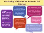 availability of alternative access to the internet
