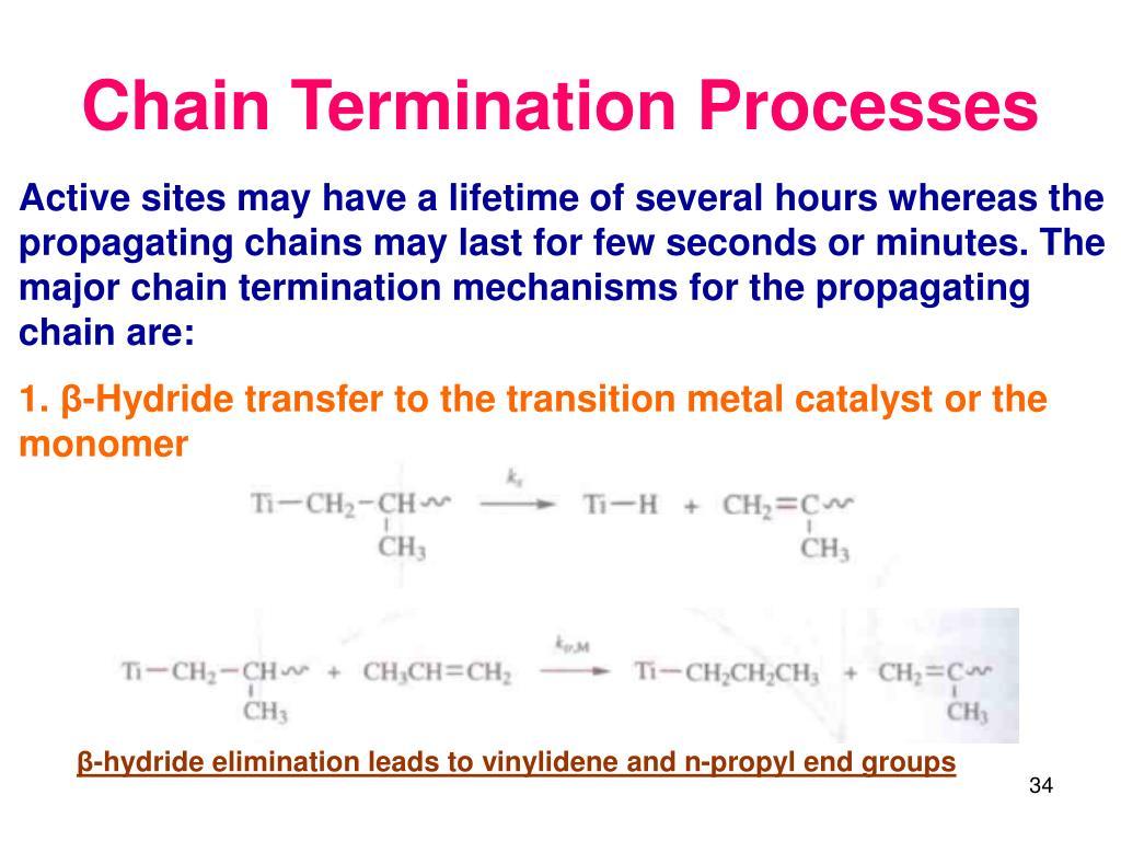 Chain Termination Processes