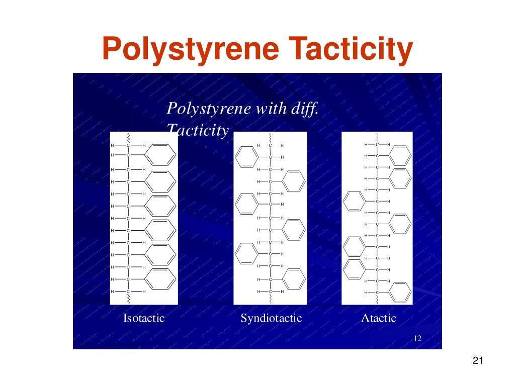 Polystyrene Tacticity