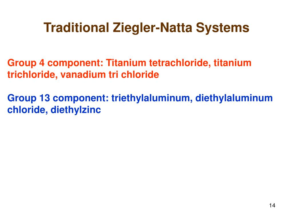 Traditional Ziegler-Natta Systems
