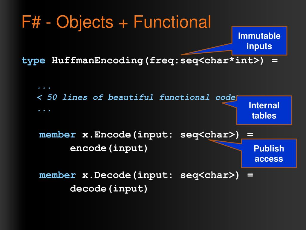 F# - Objects + Functional