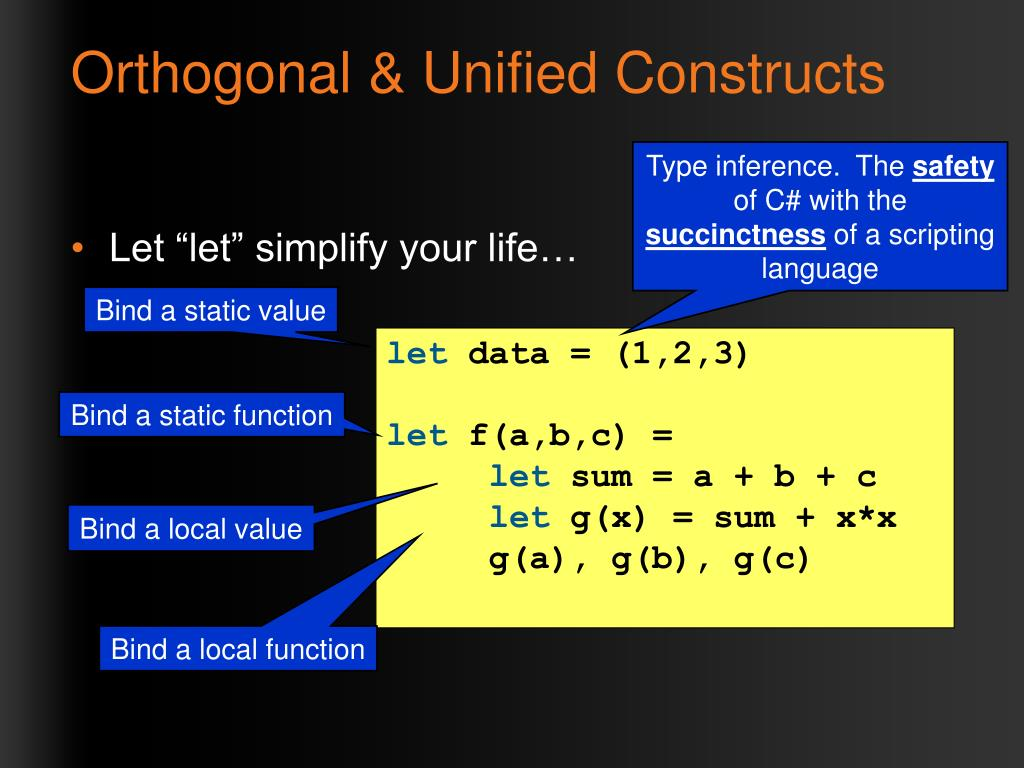 Orthogonal & Unified Constructs