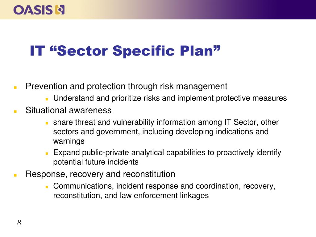 "IT ""Sector Specific Plan"""
