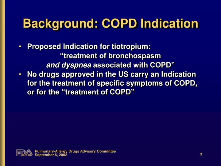 Background copd indication