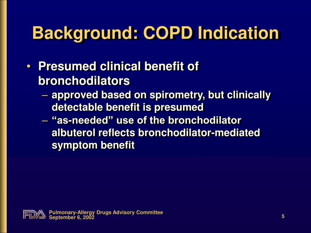 Background: COPD Indication
