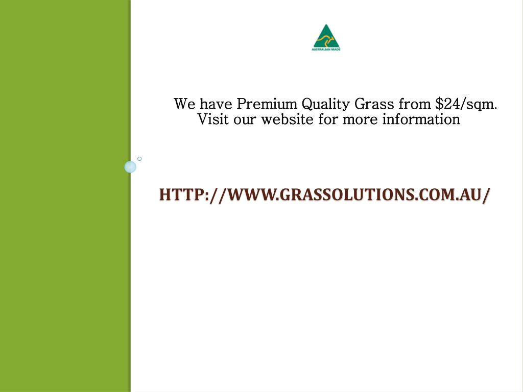 We have Premium Quality Grass from $24/