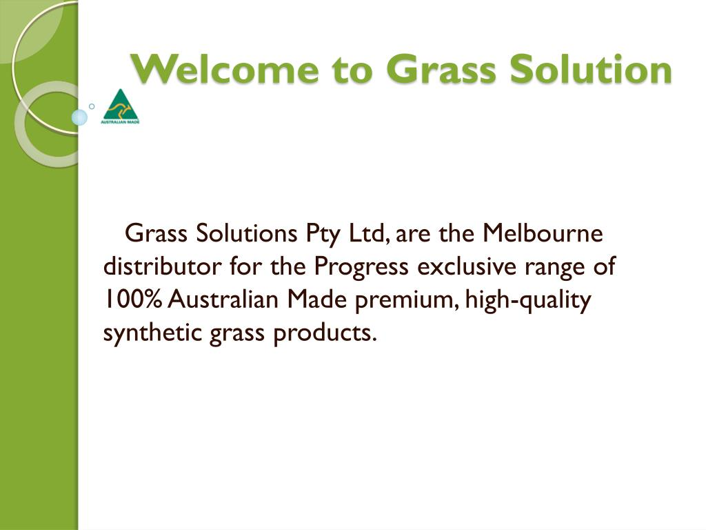 Welcome to Grass Solution