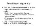 pencil beam algorithms
